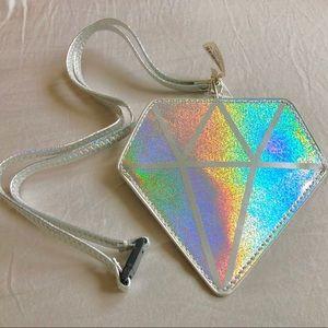 Girl's Holographic Diamond-Shaped Cute Lanyard